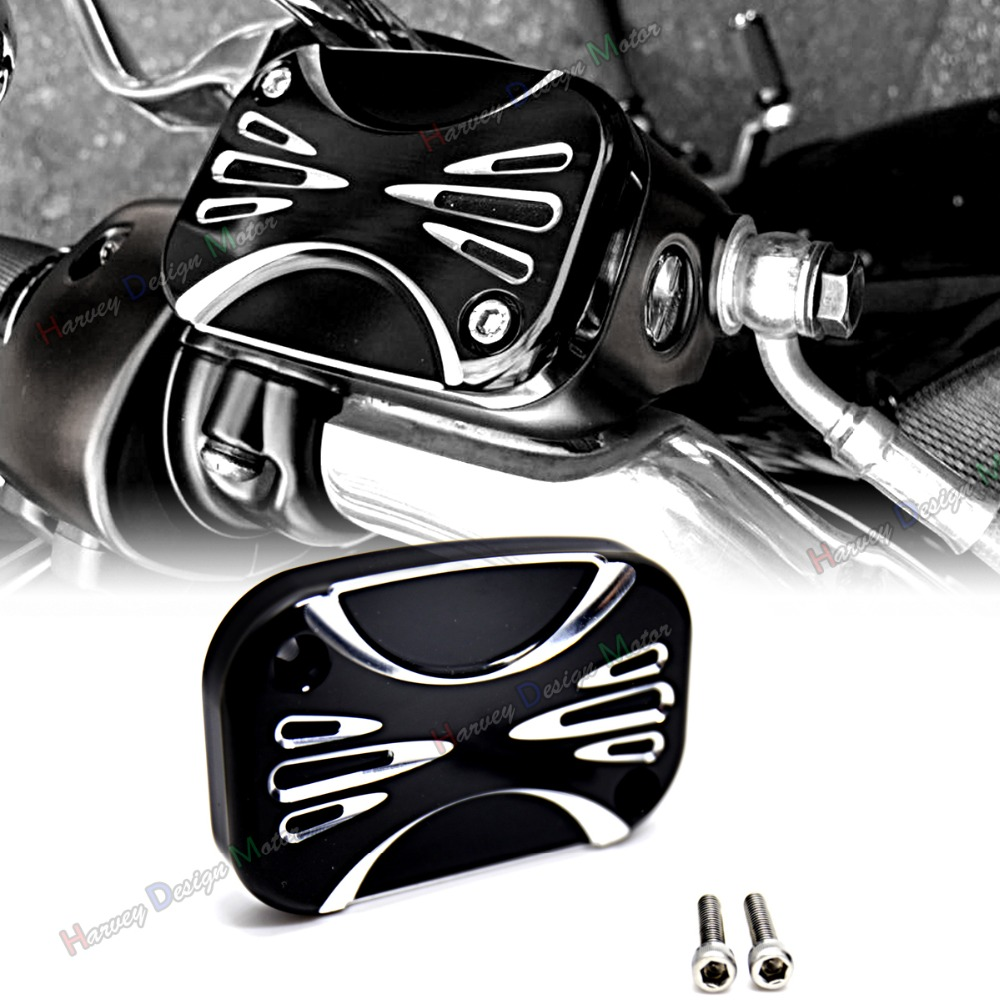 Deep Cut Front Hydraulic Clutch Master Cylinder Cover For Harley Touring Street Glide FLHX 2014 2015 2016