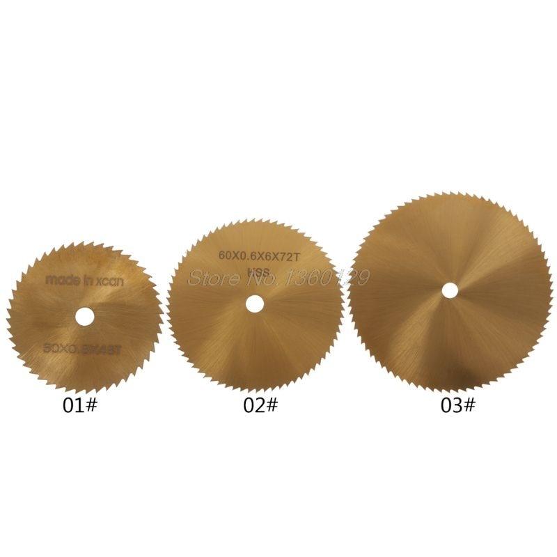 Mini Circular TI-coated HSS Saw Blade Ultra-thin Rotary Cutter Tools Cutting Disc Whosale&Dropship