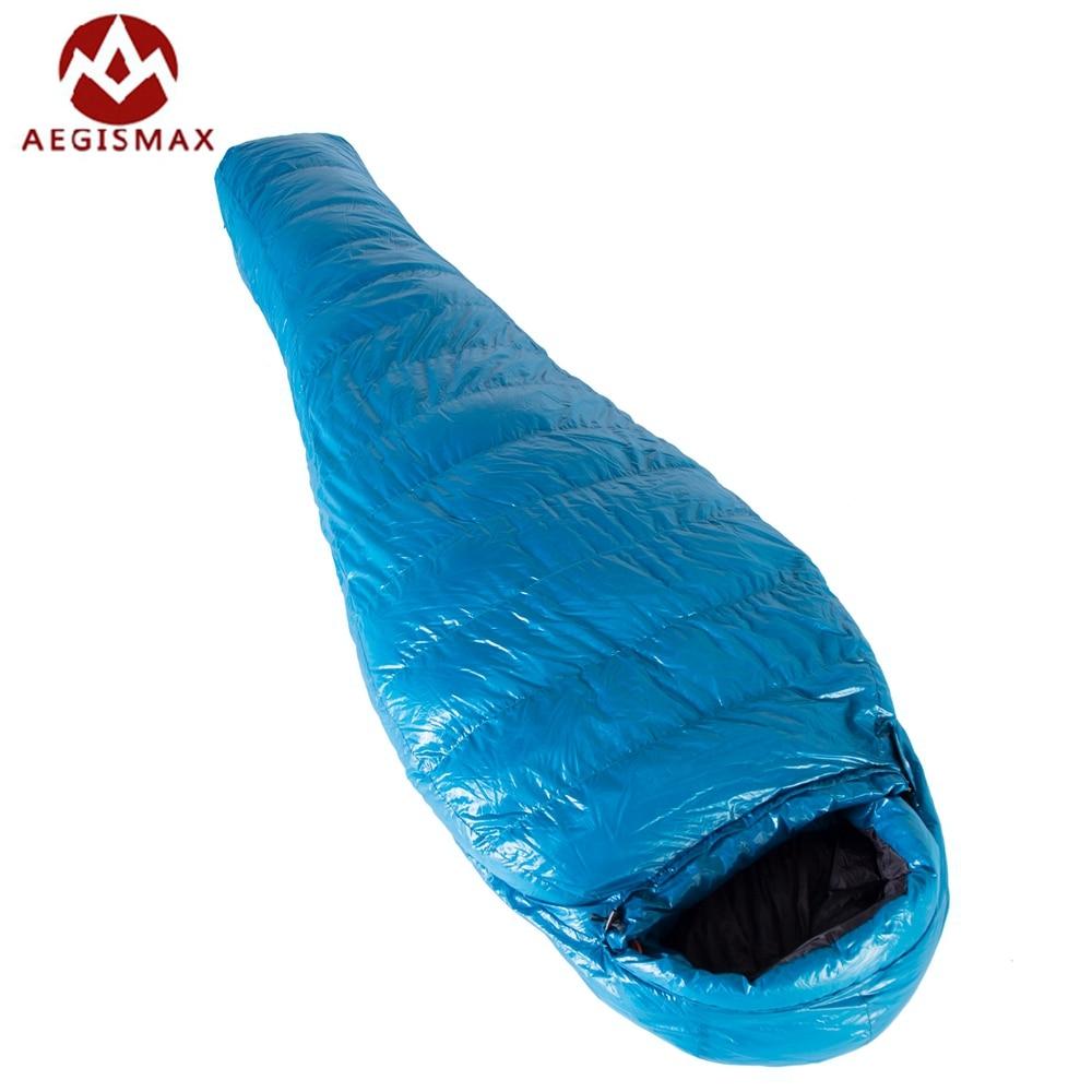 Nova Aegismax M3 Alongou Inverno Mummy Saco de Dormir Ultraleve Ganso Branco Para Baixo Caixa Defletores Ao Ar Livre de Acampamento Caminhadas 210 cm * 82 cm