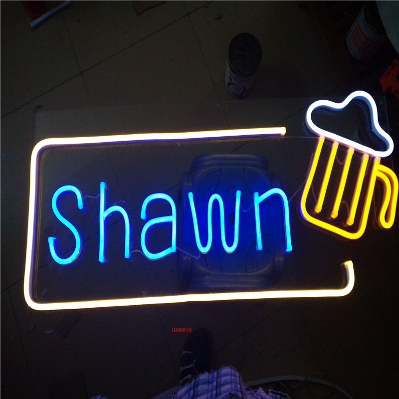 Factory Outlet Outdoor neon tube letters, neon led lights signs for coffee store barber shop salon name signboards image