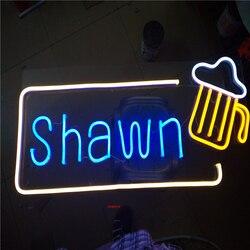 Factory Outlet Outdoor tubo al neon lettere, luci al neon del led segni per caffè negozio di barbiere salone di nome cartelli