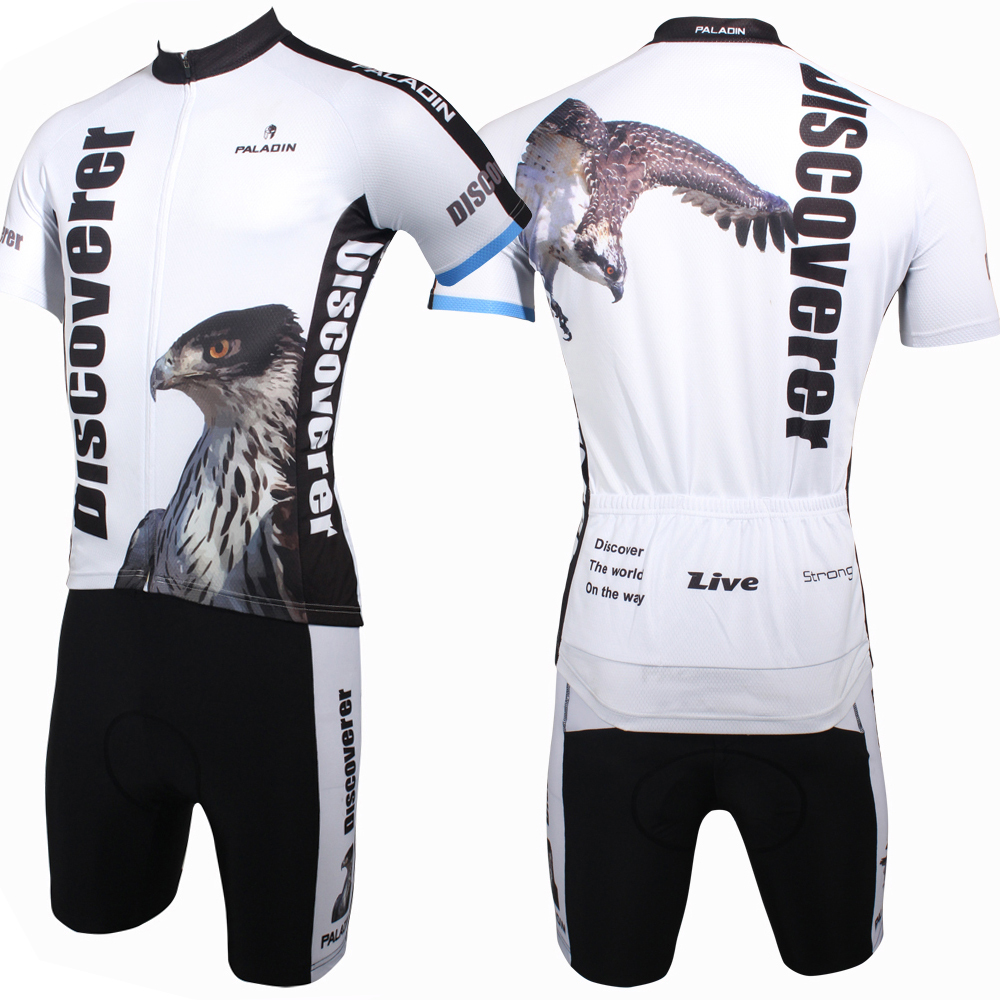 Discover The world On The Way Eagle Mens Short Sleeve Cycling Jerseys - Cycling