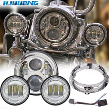 цены 7inch Motorcycle LED Headlamp For Harley Light 4.5