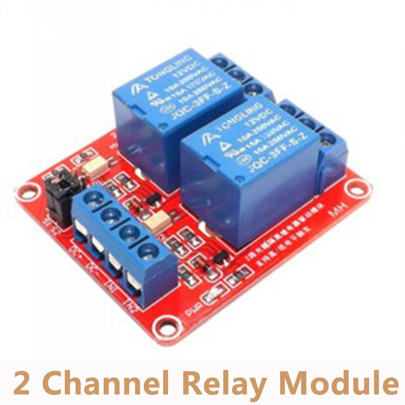 5V/9V/<font><b>12V</b></font>/<font><b>24V</b></font> 2 Channel Relay Module With Optocoupler High Low Level Triggered 2-way Relay Module for <font><b>Arduino</b></font> RM009 image
