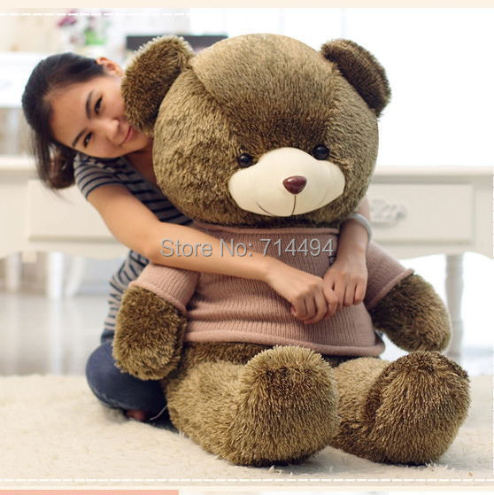 2014 New 80cm teddy bear skin High-quality plush toy classic toys baby toy stuffed doll holiday gift
