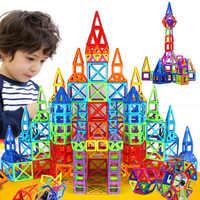 184 шт-110 шт Мини Магнитный конструктор Набор для строительства модель и строительные игрушки пластиковые магнитные блоки Развивающие игруш...