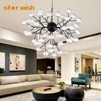 star wish Post Modern Glass pendant light G4 Led Molecular hunging Lamp Pendant Lights For Living Room bedrrom shop