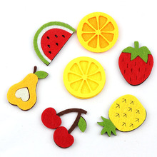 10 шт нетканый материал смешанные цвета фрукты Войлок Ткань Патч DIY ткань аппликации/Ремесло Свадебные патчи