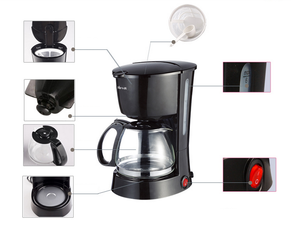 220v Drip Coffee Filter Full Automatic Machine The Type Insulated Make Tea In Makers From Home Liances On
