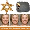 Lujo 10 Péptido EGF Factor de 24 K de Oro NANO Líquido Esencia Anti Envejecimiento Cuidado de La Cara Blanqueamiento Cápsula suave arrugas Remove miento