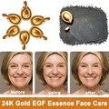 Luxo 10 Peptídeo EGF Fator 24 K NANO Ouro Líquido Essência Anti Envelhecimento Whitening Face Care Capsule smooth rugas Remove Ance