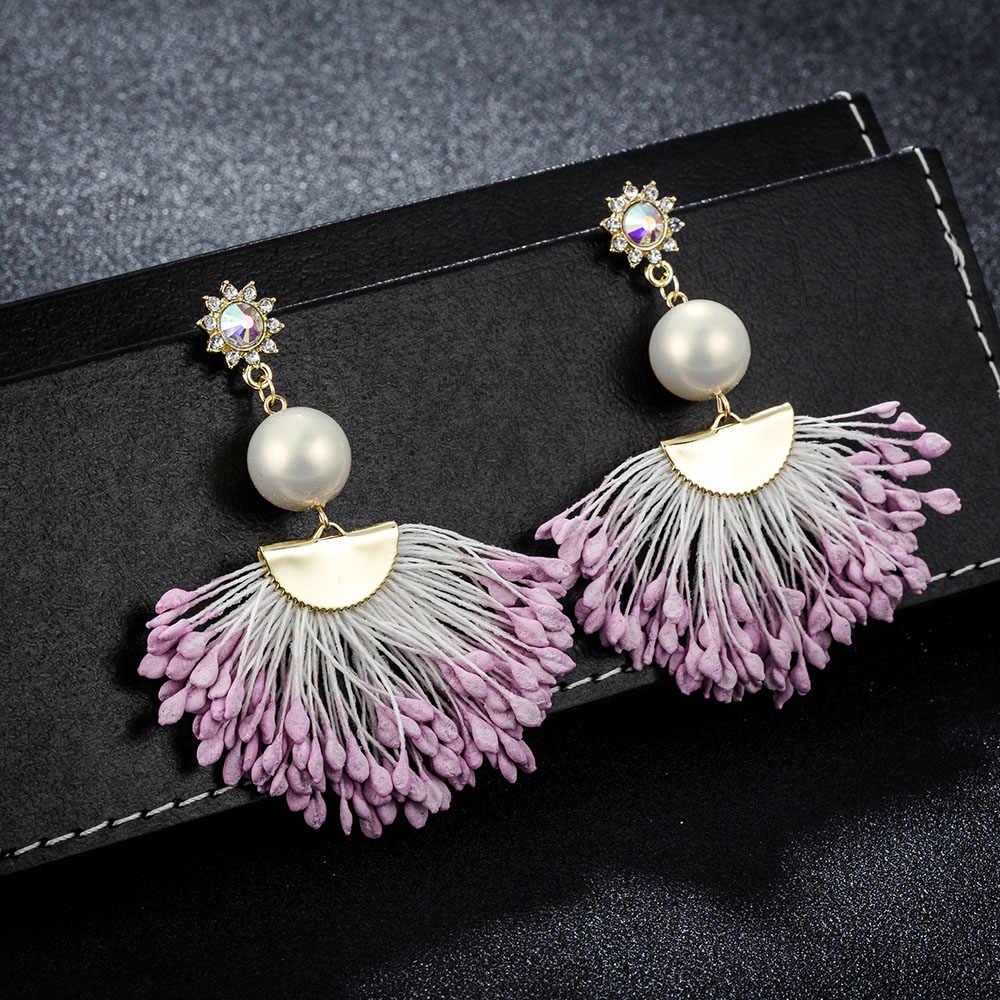 FARLENA Gioielli Fatti A Mano Corda di Cotone a forma di Ventaglio Ciondola Gli Orecchini di Modo Coreano Orecchini a pendaglio per le Donne del Regalo