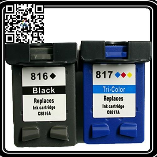 где купить  Printhead Ink Cartridge for HP 816XL HP817 C8816A C8817A Printer Ink Cartridges Compatible HP DJ 3538,3558,3658,3668,5168 Ttinta  по лучшей цене