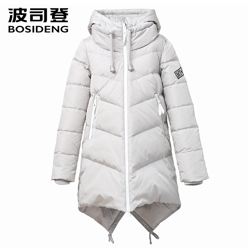 BOSIDENG winter   down     coat     down   jacket long   down   park winter thick warm outwear hood high quality fashion high quality B1601250N