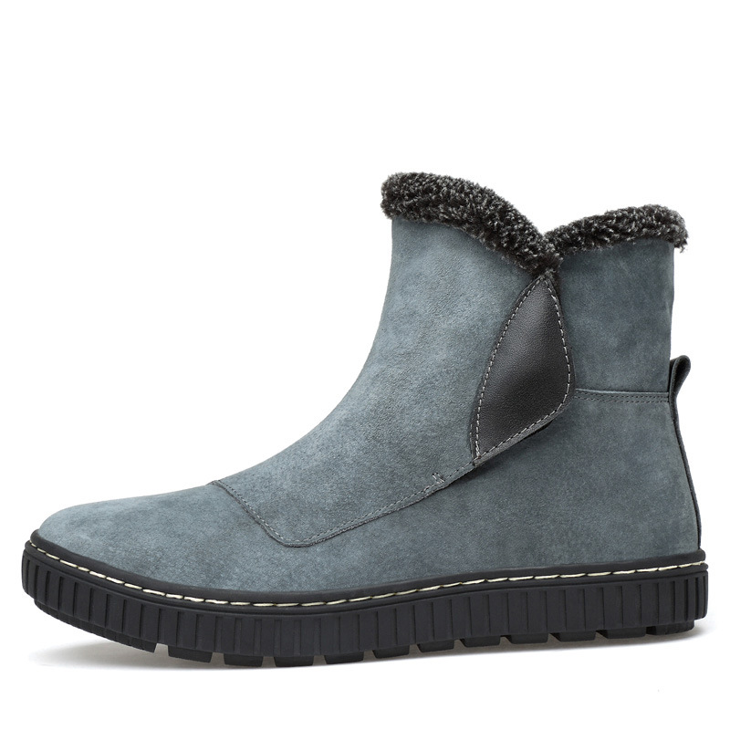 Neige Bottes 2018men Vintage 44 Boots38 Vache Appartements Cuir En Daim gris Chaussures Martin D'hiver Hommes Avec Noir Rétro Dwayne Cheville z6nATq7wq