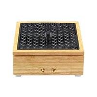 Caixa De Madeira Óleo Essencial Ultrasonic Aroma Difusor Umidificador de Ar Aromaterapia Umidificador Difusor Névoa Maker Para Casa 120Ml E|Umidificadores| |  -