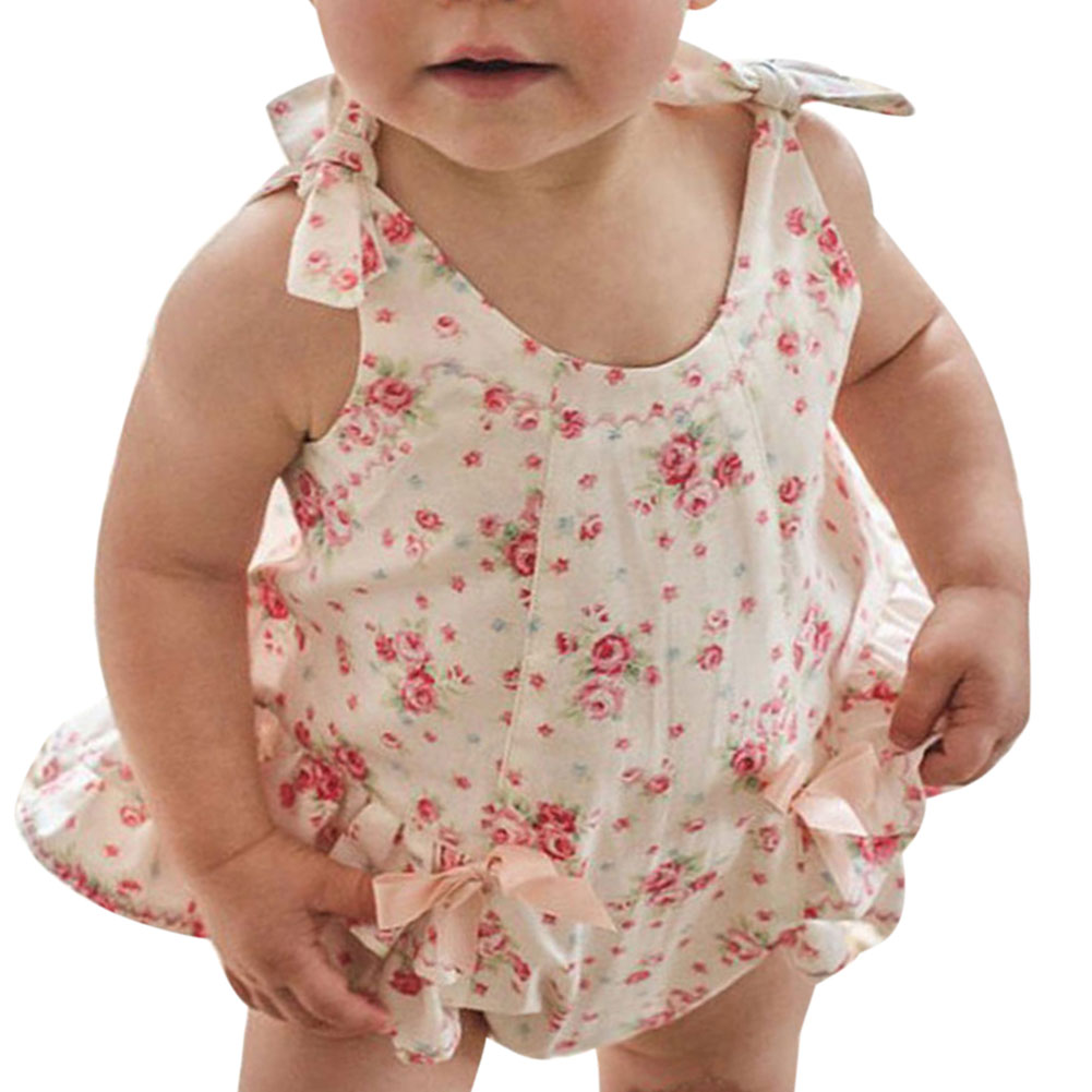 Floral Ruffle Swimsuits For Baby Newborns Girl Print Flower Ruffles Bodysuit Girls Clothes Summer Newborn Baby Cotton Floral