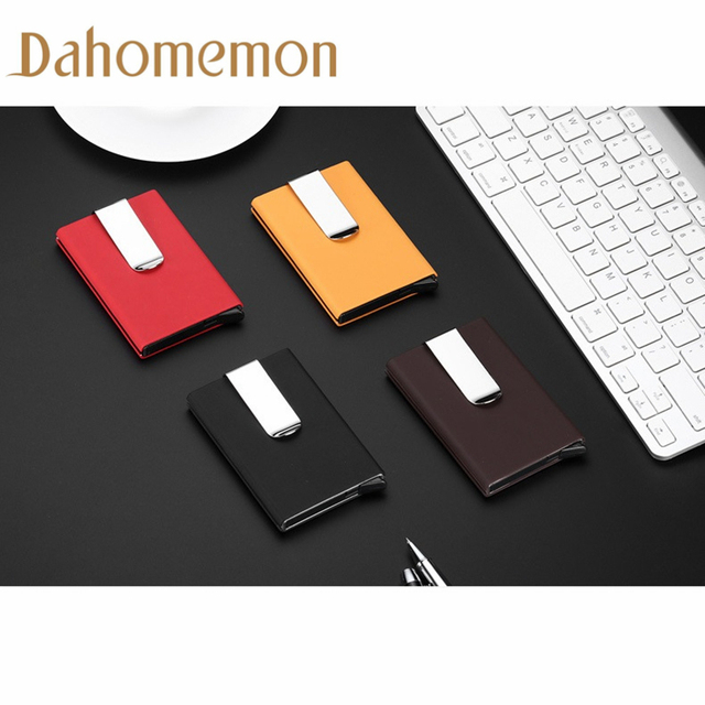 Fashion metal mini unisex business card holder storage antimagnetic fashion metal mini unisex business card holder storage antimagnetic credit card box antistatic id holder man reheart Image collections