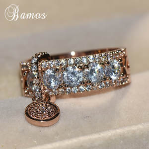 Bamos Engagement Ring Wedding Rings For Women Jewelry