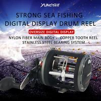 2019 rod rack drive Fish Tools Bearing Reel High Speed Metal Drum Trolling Baitcasting Fishing Reel Saltwater Game Boat 12+1BB