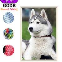 Ggdb الكامل الحفر مربع الماس 5d اليدويه الماس اللوحة لطيف الكلب الكرتون الراين لأوروبا ديكور المنزل الفسيفساء هدية عيد