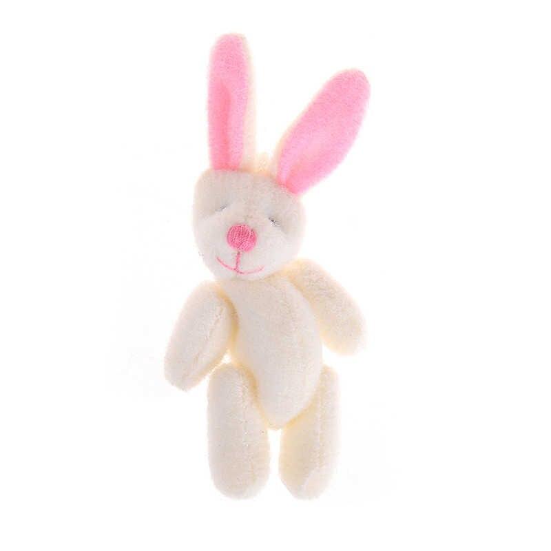 3,5/4/4,5/6/8 cm felpa suave oso conejito mini articulación conejo oso colgante para llavero ramo de muñecas de juguete DIY adornos regalos