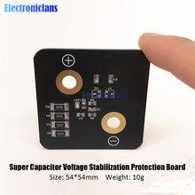 Placa de protección para estabilizador de voltaje, Super condensador de faradio, 2,8 V, 3000F, 5,4x5,4 cm