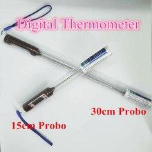 Ручка цифровой термометр с 30 см/15 см зонд DIY мыло/Свеча инструменты для крема/торта выпечки мясо с подогревом барбекю Кухонный Термометр