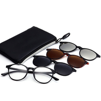 Vazrobe 3 Pairs Magnetic Clip On Lens Reading Glasses Men Women Bifocal Diopter Near Far Sight