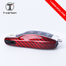 Red Carbon Fiber Car Key Case Protective Shell Styling Bag Box For Porsche Cayenne Macan Cayman Boxster 911 стоимость