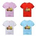 New 2015 Fashion Summer Cartoon Anime Children t shirts Short Sleeve Cute Toddler Baby Girls Boys T-shirt 100% Cotton Tops Tees