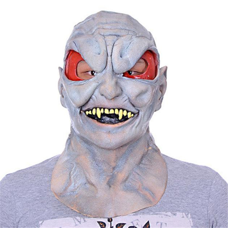 alien latex mask bloody bane face off horror halloween costume realistic silicone scary unicorn masks carnaval - Cheap Creepy Halloween Costumes