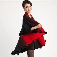 2015 New Arrival Candy Colors Cardigan Women Woolen Coat Long Sweater Shawl Cape Cloak Bat Sleeved