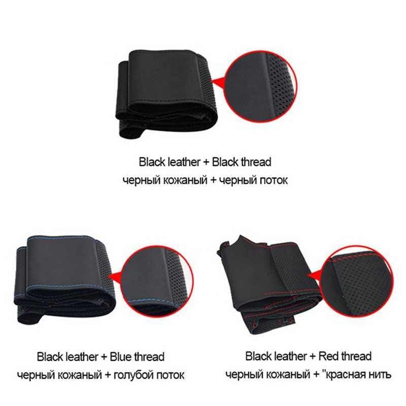 GKMHiR noir housse de volant bricolage cousu main daim couverture de volant pour BMW E90 325i 330i 335i accessoires intérieurs