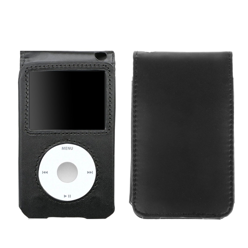 Fashion Leather Cover Case For Apple IPod Classic 80/120/160GB With Detachable Clip Protective Case Full Body Protective Shell