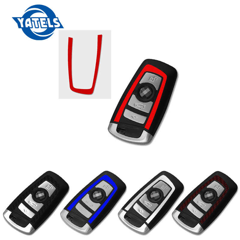 1 pièces de voiture Pour bmw clé autocollant Pour BMW E46 E52 E53 E60 E90 F01 F20 F10 F30 F15 X1 X3 X5 X6 nouvelle Série 1 3 Série Série 5