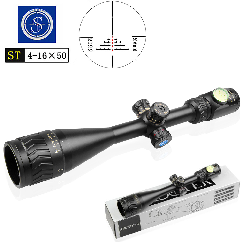 SHOOTER 4-16X50AOE Optic Rifle Sight Scope Traveling Hunting Outdoor Monocular Telescope High Quality Air Rifle Accessories
