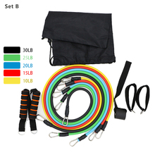 11Pcs/Set Resistance Bands Yoga Exercise Fitness Band Rubber String Chest Developer Pull Rope Strap Gym Door Anchor Ankle Straps