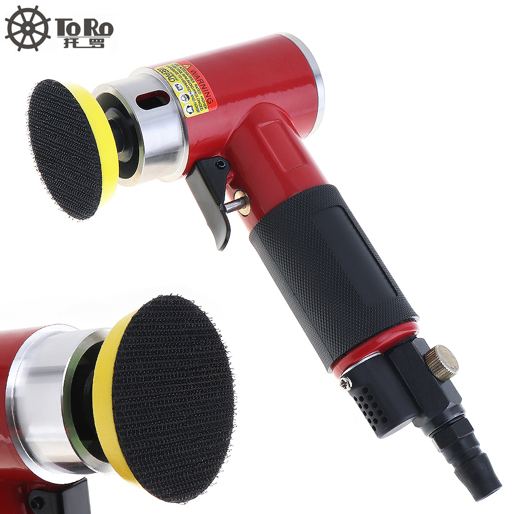 TORO 943A 2 Inch Straight Heart High speed Mini Pneumatic Sanding Machine with Push Switch and Sanding Pad for Polishing