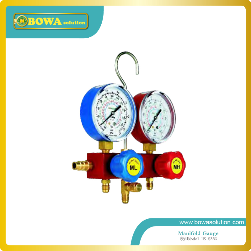 R134a R22, R407C and R404a manifold Gauge set with aluminium alloy valve body and imported hose