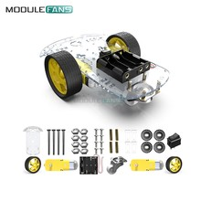 Diy Kit Electronic Motor Smart Robot Car Chassis Kit Speed Encoder Battery Box 2WD Tracking Obstacle Avoidance Intelligent Car(China)