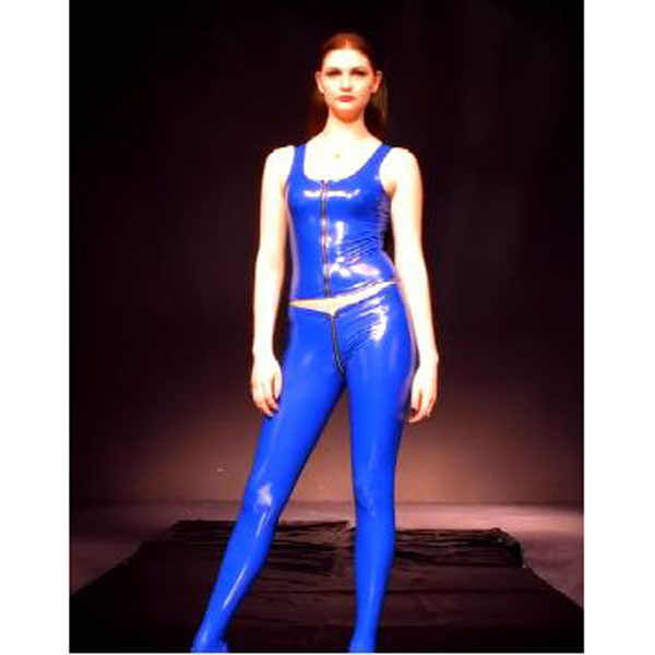 f9cc7428b ... Glazed Leather Shiny Zipper Open Crotch Pantyhose Women Low Waist  Elastic PVC Pencil Pants Modern Legging