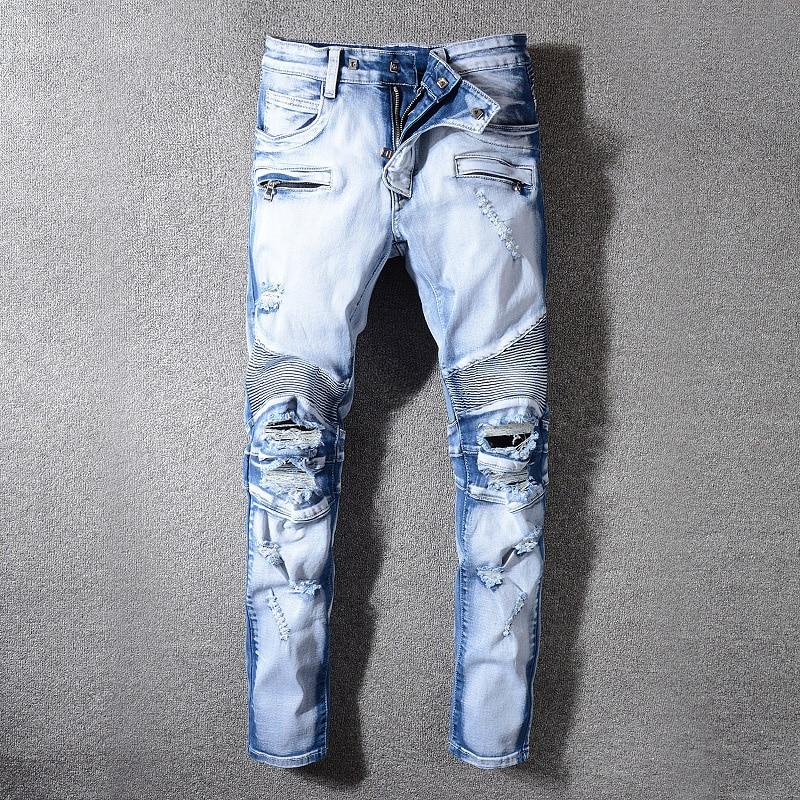2019 Italiaanse Stijl Mode Skinny Jeans Stretch Casual Mannen Jeans Nieuwe Designer Klassieke Jeans Mannen Hoge Kwaliteit Mannen Jeans-in Spijkerbroek van Mannenkleding op  Groep 2
