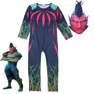 Image 4 - Kids Boys Skull Trooper Raven Cosplay Jumpsuit Halloween Party Costume Battle Royal Children Carnival Purim Clothes Set  4 18 Y