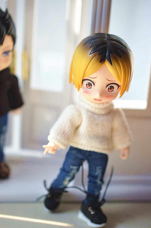Obitsu11 ob11 gsc1 인형 옷 높은 목 두꺼운 스웨터 인형 액세서리 인형 탑스 작은 옷