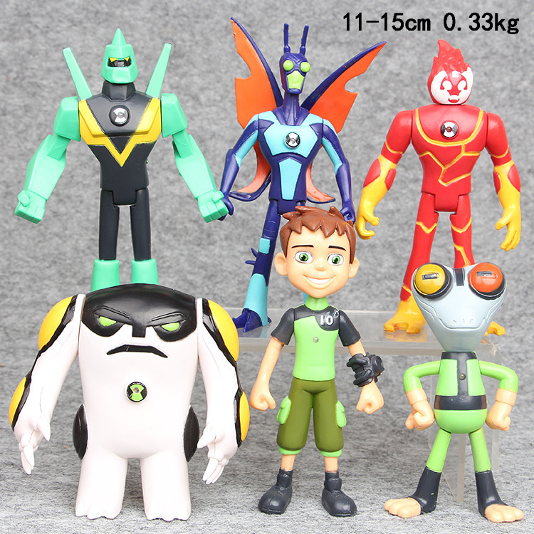Big Ben Protector Of Earth 11-15cm 6Pcs/Set Ben 10 Model Action Figures Toys Protector Of Earth PVC Ben 10 Brinquedo Doll Gifts