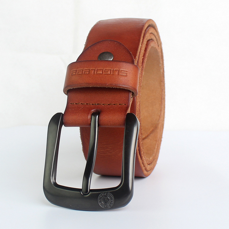New 100% genuine leather belt for men brand male pin buckle jeans cowboy Mens Belt Luxury Designer High Quality Leather belt men