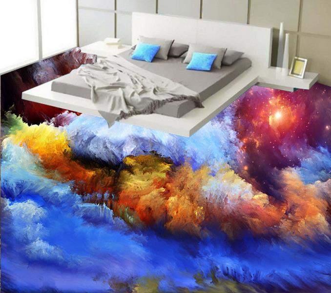 Buy 3d floor clouds creative 3d creative for Bathroom floor mural sky