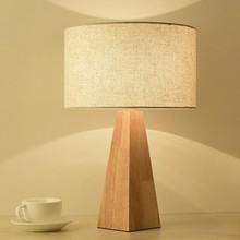 LukLoy Wooden Simple LED Table Light Bedroom Modern LED Desk Lamp Decoration Fabric Study Table Lamp for Office Reading Lighting(China)