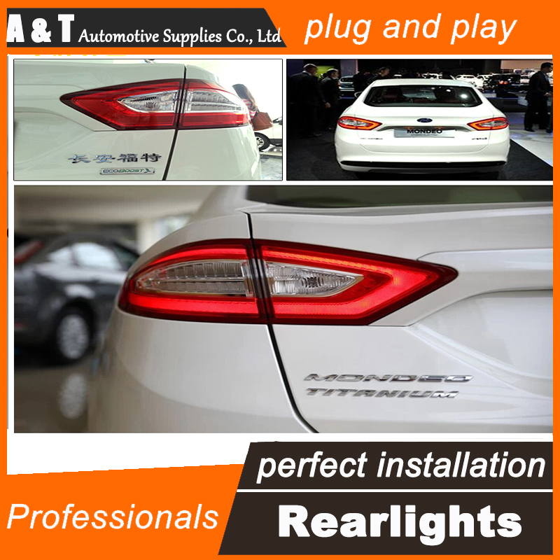Car Styling LED Tail Lamp for Mondeo LED Taillights 2013-2015 Rear Light DRL+Turn Signal+Brake+Reverse auto Accessories led ligh car styling led tail lamp for mondeo led taillights 2013 2015 rear light drl turn signal brake reverse auto accessories